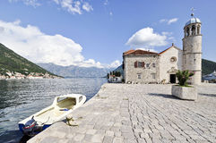 Lady of the Rocks artificial island with catholic church in Perast Royalty Free Stock Images