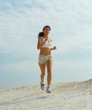 Lady running Stock Photo