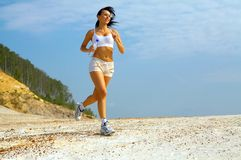 Lady running Stock Photo