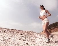 Lady running Stock Image