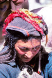 Lady in rural village life in Tibet Stock Images