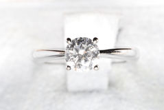 A Lady's Best Friend. Close up of a Diamond Ring Royalty Free Stock Photo