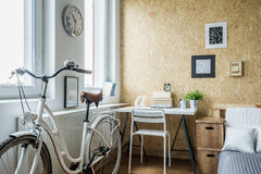 Lady's bike in modern interior Royalty Free Stock Photography