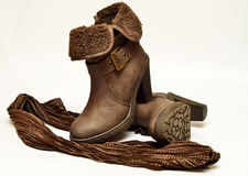 Lady's boots Stock Image