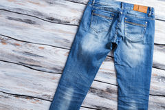 Lady's casual jeans. Stock Photo