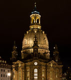 Ladys church at night. Frauenkirche (Ladys church) at night, Dresden, Germany Stock Images