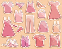 Lady's clothes Stock Images