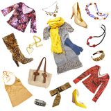 Lady's clothes and accessories Royalty Free Stock Images
