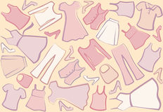 Lady's clothes background Royalty Free Stock Photo