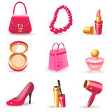 Lady's dream icons Royalty Free Stock Photos