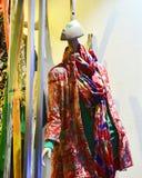 Lady's fashion shop window Stock Photo
