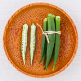 Lady 's Fingers or Okra Stock Photography