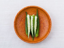 Lady 's Fingers or Okra clean and healthy food Royalty Free Stock Images