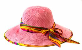 Lady's hat  on a white background Stock Photo