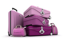 Lady's luggage Royalty Free Stock Image
