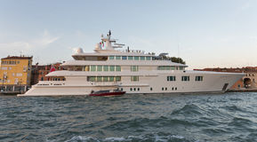 Lady S Luxury Cruise Yacht In Venice Lagoon, Italy. Royalty Free Stock Image