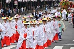 Lady`s Parade of Gion festival, Kyoto Japan Royalty Free Stock Image