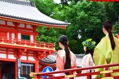 Lady`s Parade of Gion festival, Kyoto Japan Stock Photos