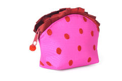 Lady's pink clutch bag Stock Photography
