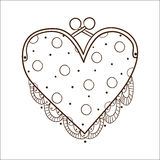 Lady's purse with laces royalty free illustration