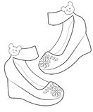 Lady's shoes coloring page. Useful as coloring book for kids Royalty Free Stock Photography