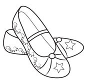 Lady's shoes coloring page Royalty Free Stock Images