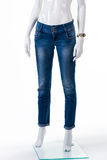 Lady's skinny fit jeans. Stock Image