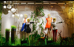 Ladys spring  fashion shop window Stock Photography