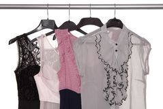Lady's wear. Trendy cobweb evening lady's wear Royalty Free Stock Image