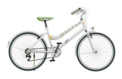 Lady's white bike Royalty Free Stock Images