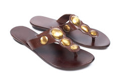 Lady sandals Royalty Free Stock Images