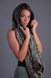 Lady with scarf Stock Images