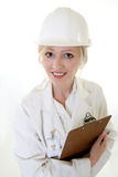 Lady science engineer Stock Image