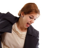 A lady screaming Royalty Free Stock Photography