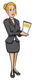 Lady Secretary Royalty Free Stock Photography