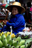 Lady selling fruit from her boat at Floating Market, Stock Images