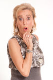 Lady in shock Royalty Free Stock Photography