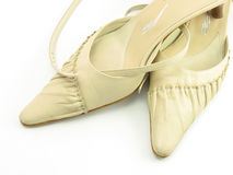 Lady shoes. In isolated white Stock Image
