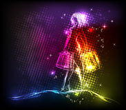 Lady shop light design Stock Images