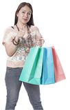 Lady Shopper Royalty Free Stock Photography
