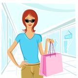 Lady Shopping Royalty Free Stock Photography
