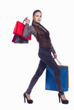 Lady with shopping Stock Photos