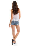 Lady in short shorts. Stock Image