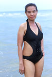 Lady show swimsiut Stock Photos