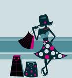 lady shpper siluette stylized Στοκ φωτογραφίες με δικαίωμα ελεύθερης χρήσης