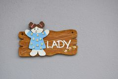 Lady sign royalty free stock photo