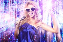 Lady singer Royalty Free Stock Photography