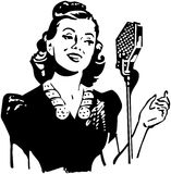 Lady Singer stock illustration