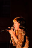 Lady singer Stock Photo