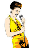 Lady singer; vector Royalty Free Stock Photos